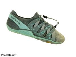 Merrell High Rise Barefoot Women 7.5 Gray Vibram Lightweight Trail Running Shoes - $25.85