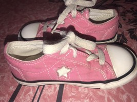 Converse One Star ~ Kids Youth Girls Pink Shoes Low Top Chuck Taylor ~ 9 - $14.30