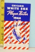 1944 Chicago White Sox Baseball Player Roster Back the Attack War Issue - $49.50