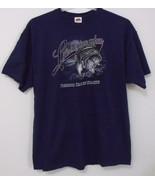 Mens NWOT Fruit of the Loom Navy Blue Short Sleeve Fishing Season T Shir... - $9.95