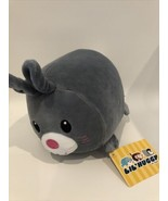 "Fiesta Lil Huggy Gray Bunny Rabbit Plush 8"" Soft New W1EFO - $13.95"