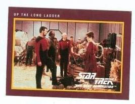 Star Trek The Next Generation card #166 Up the Long Ladder Picard Riker ... - $3.00