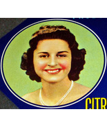 Large Prom Queen! Ruby Crate Label, 1940's  - $3.89