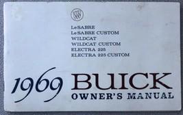 Vintage 1969 Buick Owner's Manual LeSabre, Wildcat, Electra 225, Etc. - $4.95