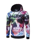 3D Splash Paint Leisure Long Sleeve Hooded Threshold Sweater Coat Loose - $29.22