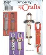 SIMPLICITY 8820 Dog & Cat Plastic Bag Holder Holders Hang Ups Sewing Pat... - $8.99