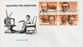 2058a * AMERICAN INVENTORS BLOCK * FREE SHIPPING - $4.46