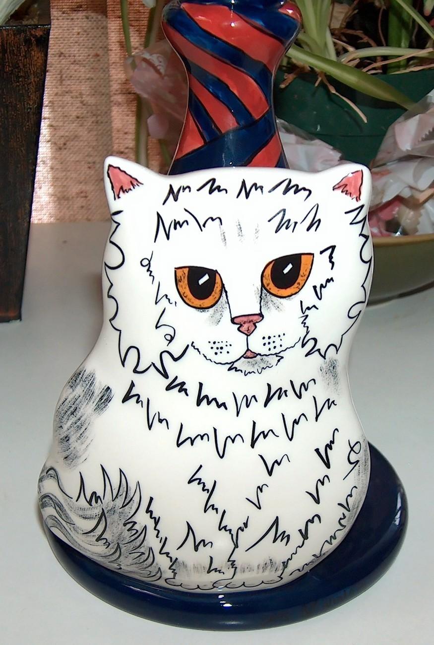 Candlestick Cats by Nina Lyman