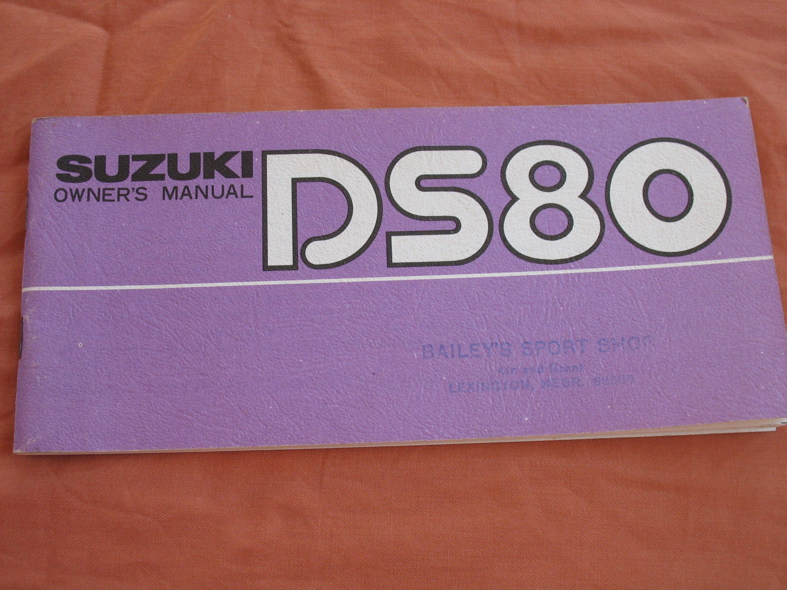 1978 78 SUZUKI DS80 DS 80 OWNER'S MANUAL