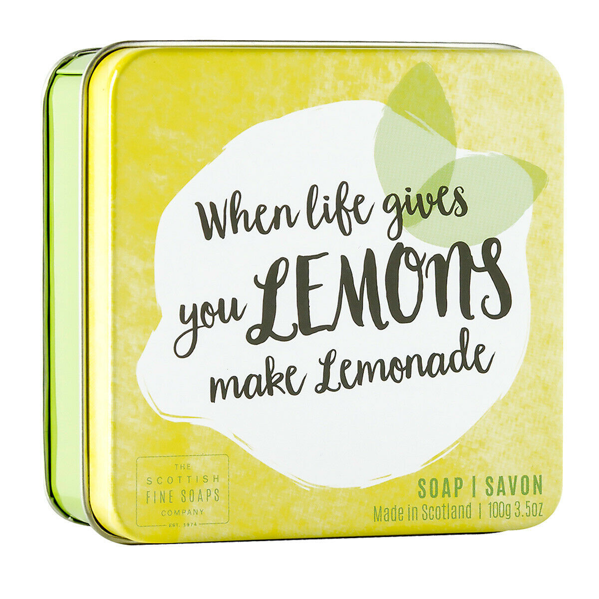 Primary image for Scottish Fine Soaps When Life Gives You Lemons Soap in a Tin 100g 3.5oz