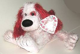 1/2 Price! Pink Red Love Bendable Plush Valentine Dog New w Tag - $4.00