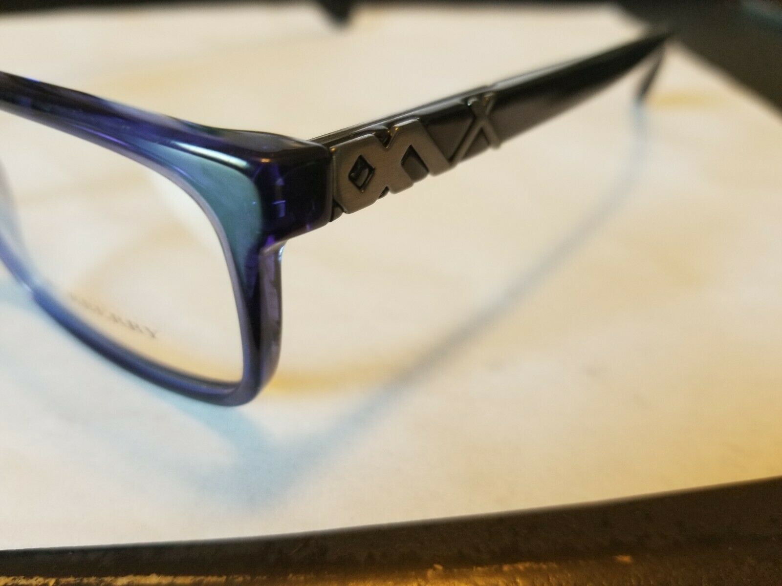 Burberry B2240 RX Eyeglass Frame COLOR 3626 Blue 55-18-145 Made in Italy! NEW
