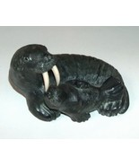 Wolf Original Sculptured Walrus Figure with Baby  - $20.00