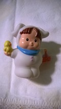 Fisher Price Little People WHITE EASTER BUNNY Chick Spring Holiday Figure - $6.50