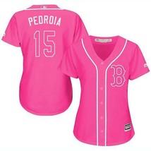 Women's Boston Red Sox #15 Dustin Pedroia Jersey Baseball MLB Jerseys Pink - $44.99