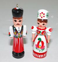 Vintage 1998 Christmas Ornaments Handpainted Wood People Budapest Hungar... - $24.70