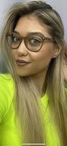 New LIU JO LJ 2615 272 Brown Round 51mm Rx Women's Eyeglasses Frame  - $99.99