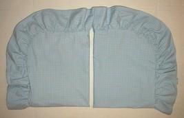 Ralph Lauren Wendy Gingham Blue STANDARD SHAMS Ruffled Allison Beach Hou... - $69.29
