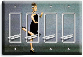 AUDREY HEPBURN BREAKFAST AT TIFFANY'S CIGARETTE 4 GFCI LIGHT SWITCH PLAT... - $21.99