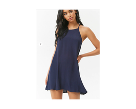 Forever 21 Billowy Mini Dress Navy Size M NWT - $12.87