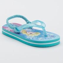 NEW NWT Disney Frozen Baby Toddler Frozen Flip Flops 5/6 Small Elsa  - $2.99