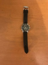 Mens Fossil Chronograph  Date Watch BQ1006 Black Dial - $34.99