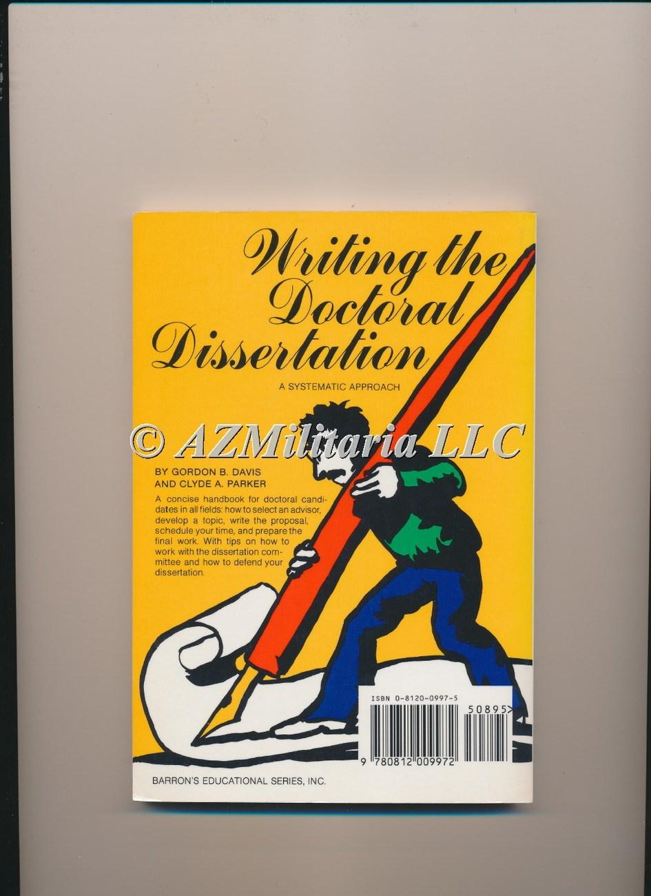 writing the doctoral dissertation davis parker