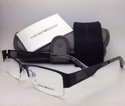 Neu Emporio Armani Brille EA 1018 3001 55-17 Schwarz Semi-Rahmenlos Fassung /