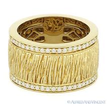 0.26 ct Round Diamond Right-Hand Thick Fashion Band 14k Yellow Gold Heav... - €1.391,26 EUR
