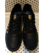Womens K-Swiss Court Chesterfield Sneakers - Black & Gold - $59.99