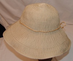 Scala Sun Protection Floppy Hat Womens One Size Adjustable Beach Pool Be... - $27.86