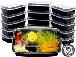 16 Pack Meal Prep Containers Plastic Food Storage Microwavable One Compa... - €17,86 EUR