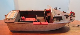 """Vintage Rare Ideal  Boat w/anchor 14"""" Plastic Toy Used for parts - $33.66"""