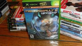MechAssault 2: Lone Wolf (Microsoft Xbox, 2004) - $8.90
