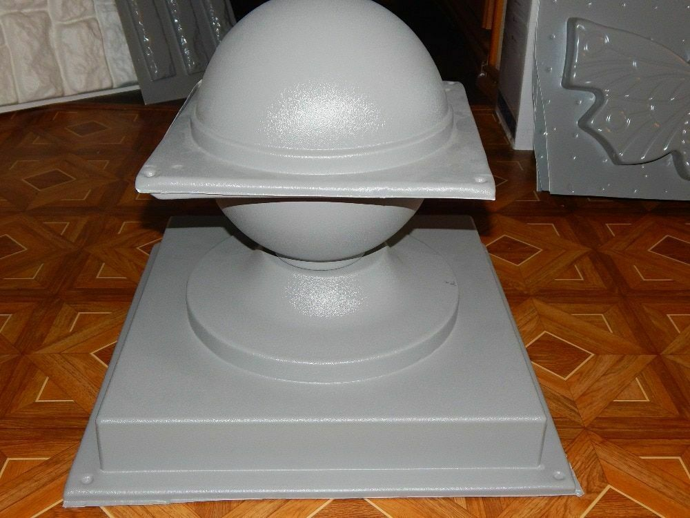 Plastic molds for  concrete  cap Fence Cover Pillar   for garden Plaster Stone T