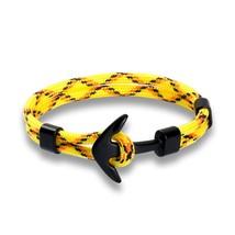 Eif Dock Silver Color Anchor Bracelet Men Women Titanium Steel Rope Chai... - $15.99