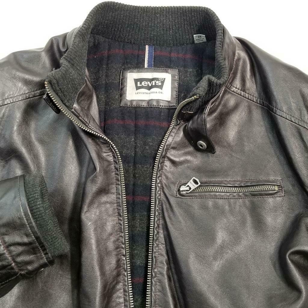 Levis Faux Leather Jacket Sz M EUC image 6