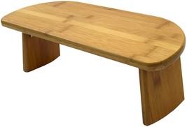 Bamboo Meditation Kneeling Bench - Best Design - Folding Legs Portable E... - £42.68 GBP