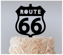 Wedding,Birthday Cake topper,Cupcake topper,silhouette route 66 Package : 11 pcs - $20.00