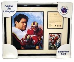 Steve Young San Francisco 49ers 1996 Framed Lithograph Art Print Photo #498 - $25.00