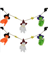 Halloween Ghosts Bunting Decorations Wall Hanging - $7.75