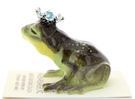 Hagen-Renaker Miniature Frog Prince Kissing Birthstone 03 March Aquamarine image 4