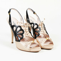 Miu Miu Leather Lace Up Slingback Sandals SZ 40 - $145.00