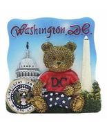 Picture Frame Shaped with 3D Washington DC Teddy Bear, Washington Monume... - $7.99