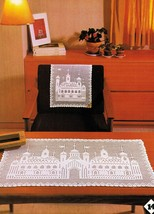 Turkish Delight Table Mat Chair Back Curtains Bedspread Crochet Patterns - $9.99