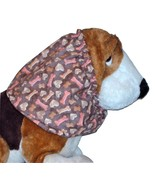 Brown Hearts and Bones Dog Treats Cotton Dog Snood by Howlin Hounds Size... - $12.50