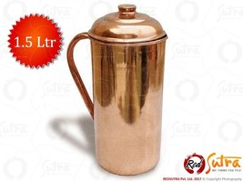 100% Pure Copper-Water-Jug-storage-for-Ayurveda-Health-Benefit 1.5 Ltr - $22.72