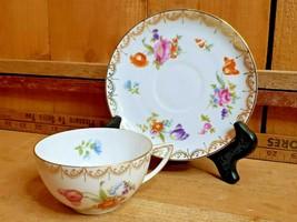 ROSENTHAL Continental Meissen (White) Cup & Saucer Set Dresden Flowers Pat# 7473 - $21.37+