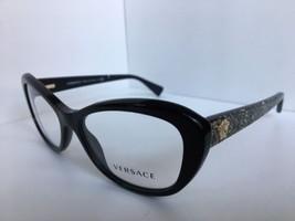 ed030d394a New Versace Mod. 1632 5651 Black 54mm Cats Eye Women  39 s Eyeglasses