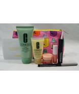 Clinique 7 Piece Set Mascara Scrub Lip Air Kiss Gloss Liner Bag DD+ - $22.02